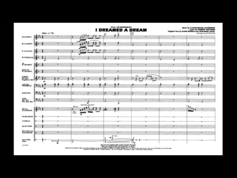 I Dreamed a Dream (from Les Misérables) arr. Jay Bocook