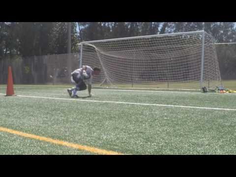 Goalkeeper Training:  Lower Cross & Cover Post
