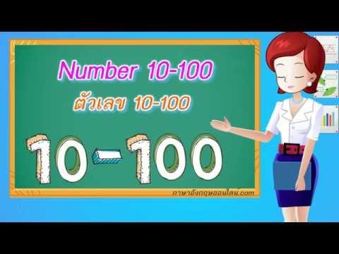 คำศัพท์ภาษาอังกฤษเด็กๆ Number 10-100 ตัวเลข 10-100