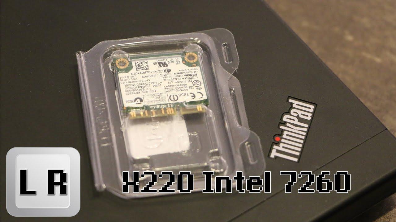 Installing an Intel 7260 WiFi + Bluetooth Card in your Thinkpad X220