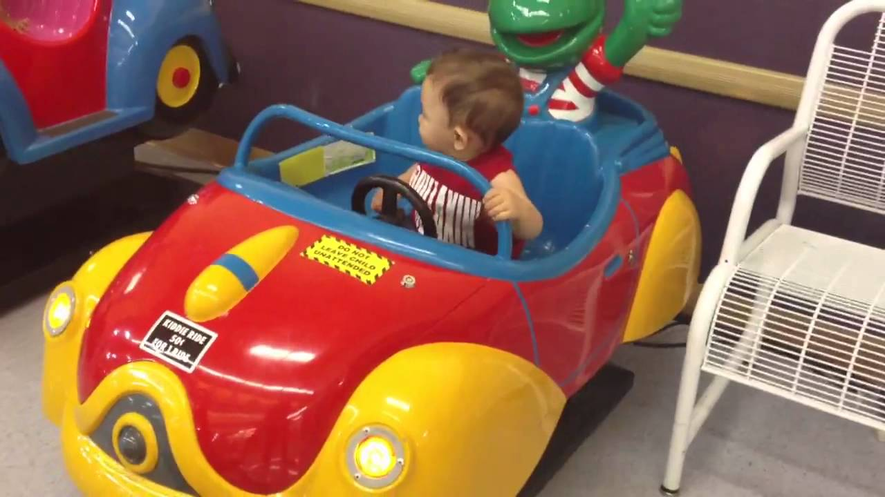 Toys R Us Ride On Cars >> On the Kermit ride in babies r us! - YouTube