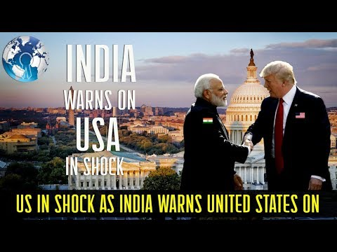 US in Shock as India Warns United States we are not China on its