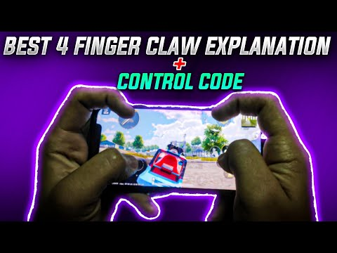 4 finger claw tutorial + CONTROL CODE 🔥 | PUBG mobile claw guide by ENDGAME GOKU
