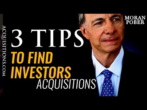 3 Tips To Find Investors For Your Business Acquisitions