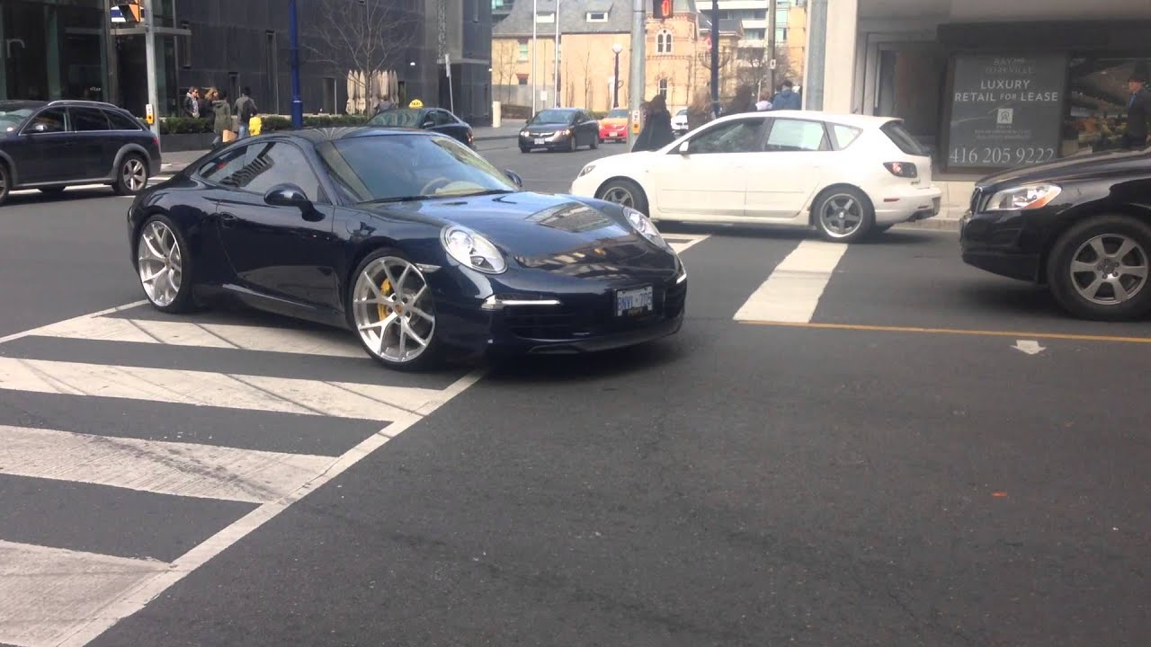 Porsche 911 Carrera 4s With Sports Exhaust And Hre Rims