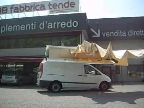 Tenda per ambulanti b su mercedes vito youtube