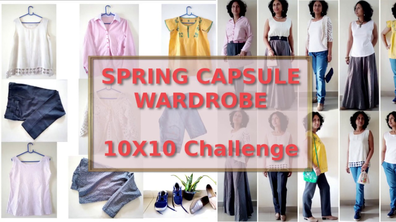 [VIDEO] - Spring Capsule Wardrobe/Spring 10x10 challenge/10 pieces = 10 outfits 6