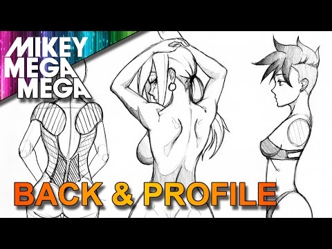 How To Draw BACK & PROFILE SIDE VIEW FOR GIRLS IN ANIME MANGA