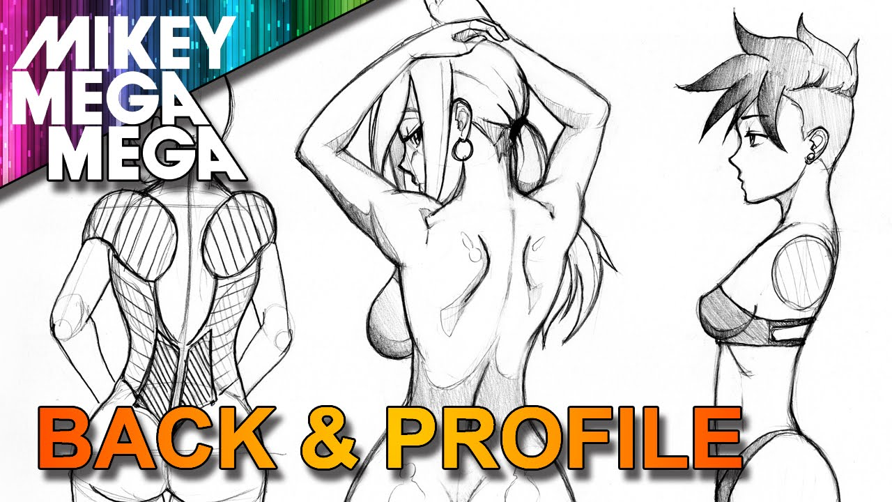How to draw back profile side view for girls in anime manga