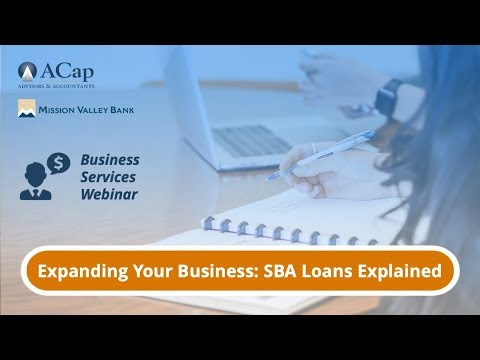 Webinar: SBA Loans Explained