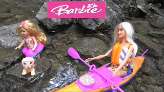 Barbie and Ken Outdoor Adventure Story with Barbie Dream House and Barbie Truck with Kayak Toys