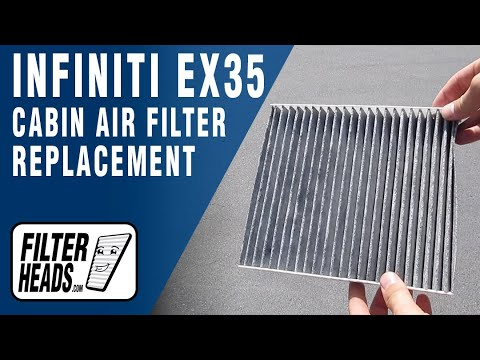 How to Replace Cabin Air Filter 2008 Infiniti EX35