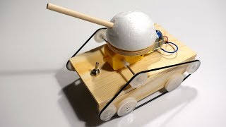 How To Make Tiny Wooden TANK That Moves And Climbs Obstacles