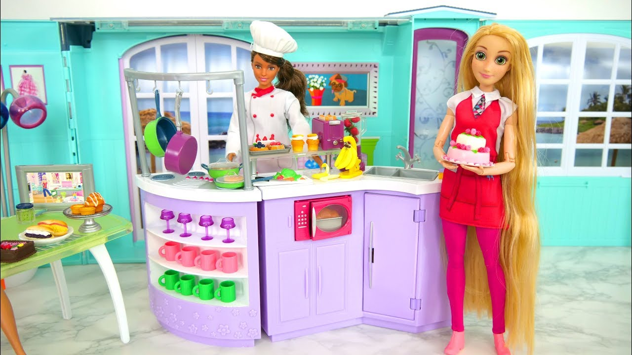 Barbie Küche Chef Doll Kitchen For Barbie Puppe Koch Küche Cuisine De Poupée Barbie Boneka Dapur