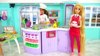 Chef Doll Kitchen for Barbie Puppe Koch Küche Cuisine de poupée Barbie boneka Dapur