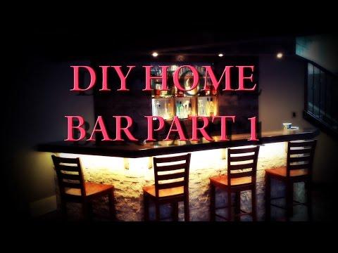 DIY Home Bar - Part 1 - Planning and Framing
