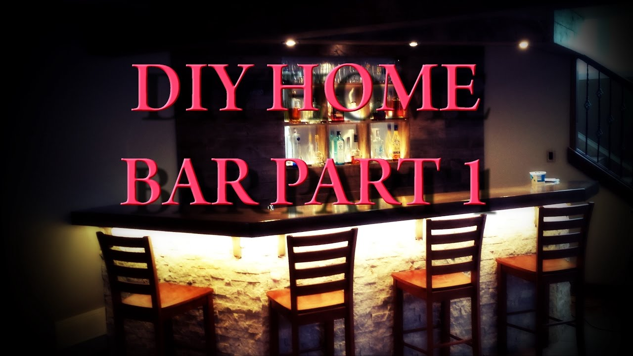 diy home bar part 1 planning and framing youtube rh youtube com Basement Kitchen Cabinets Small Basement Bar Ideas