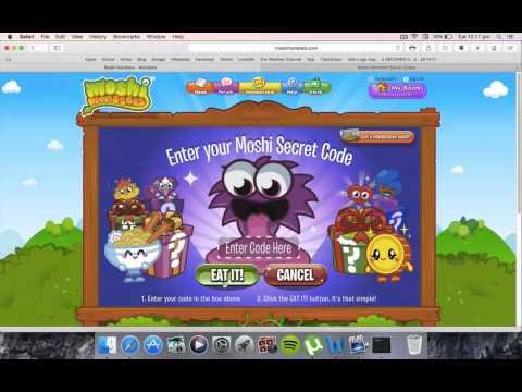 Moshi Monster Free Codes / Cuddly Moshlings