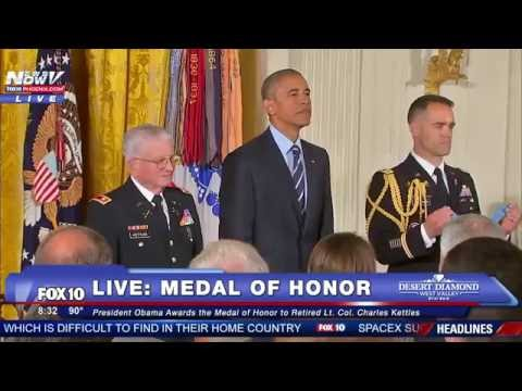 President Obama Awards the Medal of Honor to Retired Lt. Col. Charles Kettles