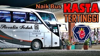 (INSIDEN NYARIS GAGAL BERANGKAT) ROSALIA INDAH SUPER TOP Scania K360IB Solo - Bekasi