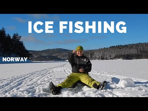 Ice fishing, char and trout