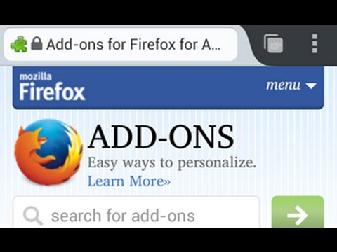 How To Install Add ons On Firefox [Android] - YouTube