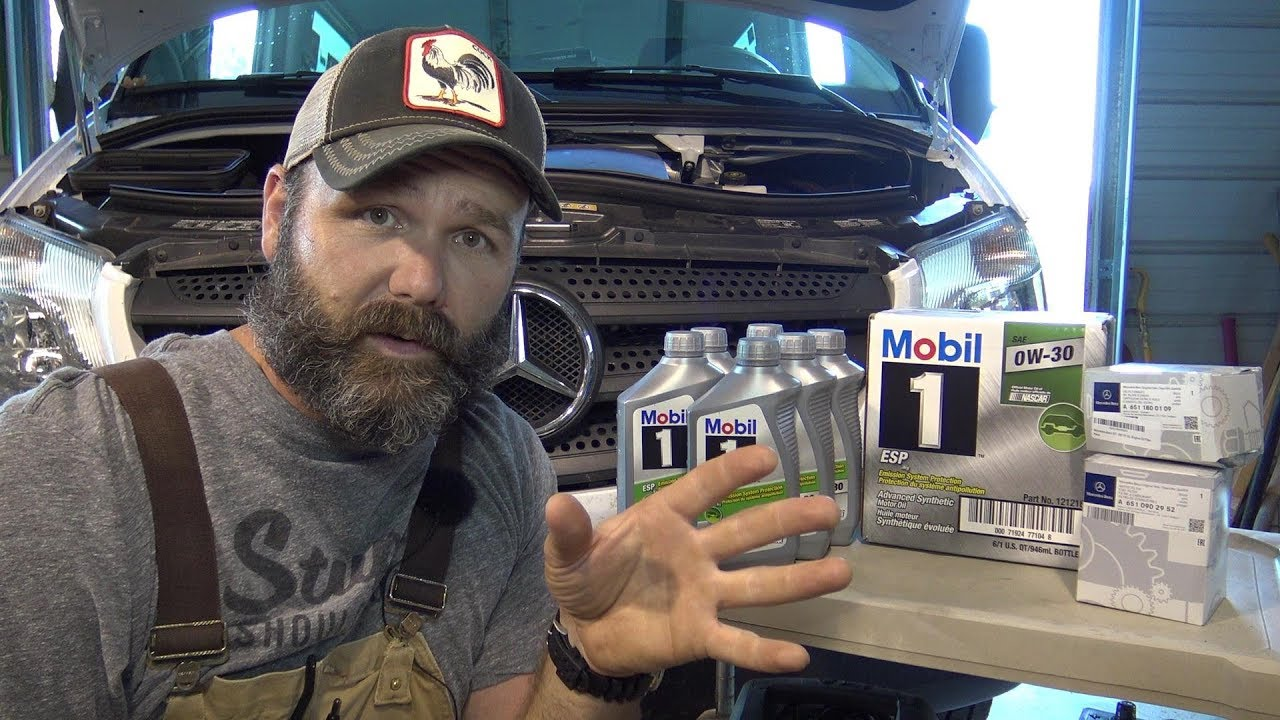 service your sprinter van at home detailed follow along instructions fuel filter oil change specs  [ 1280 x 720 Pixel ]