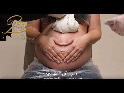 Pregnancy Belly Cast With Hands – Heart Belly Gipsabdruck