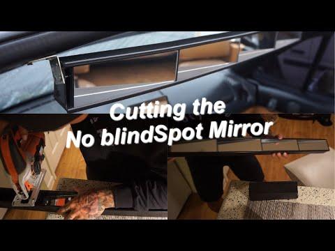 No blind spot rearview Mirror cut