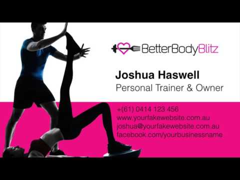 Personal Trainer Business Cards - PT Business Card Design - Create You Own Business Cards For Free