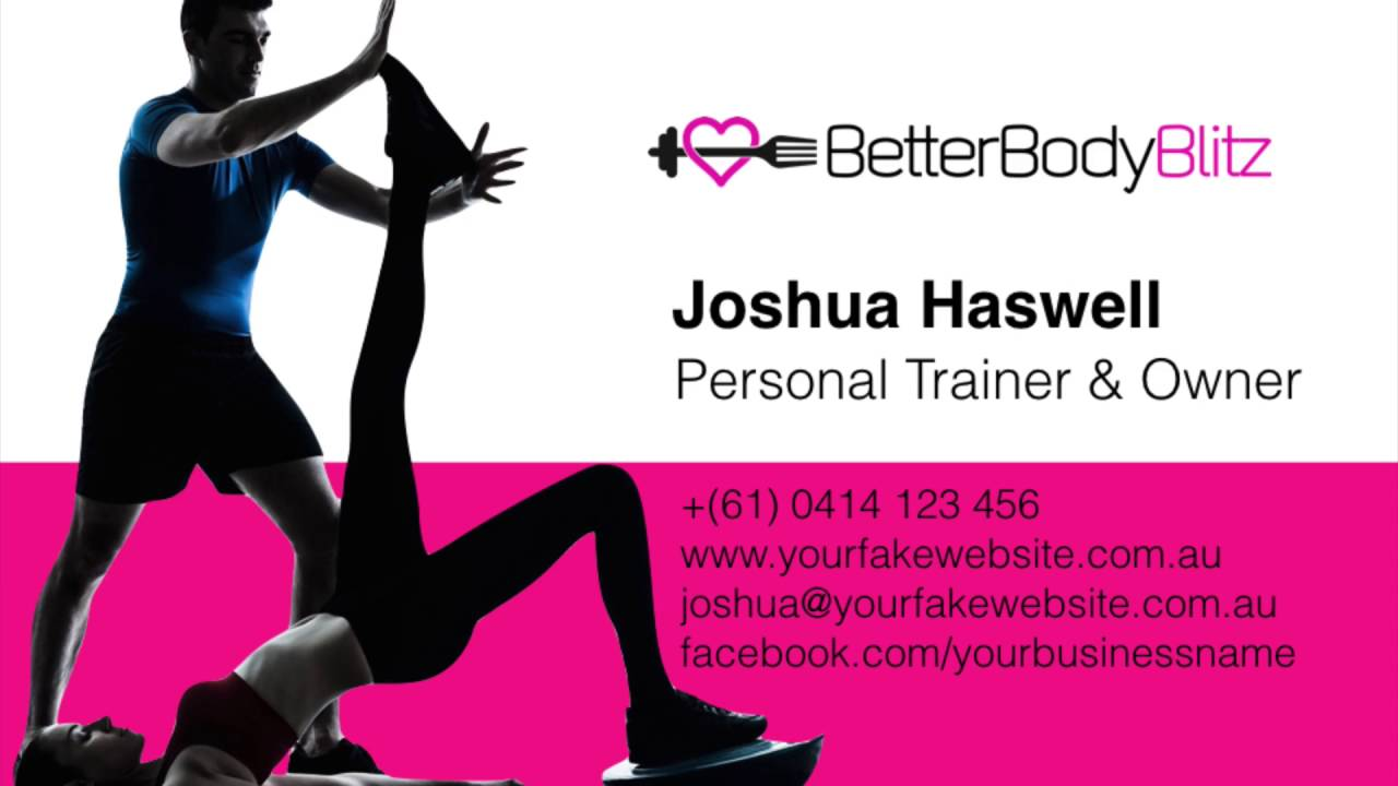 Personal Trainer Business Cards - PT Business Card Design - Create ...