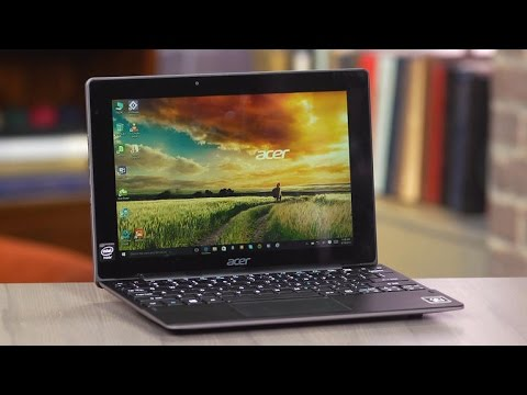 The Acer Switch 10 E is a small hybrid with extra storage