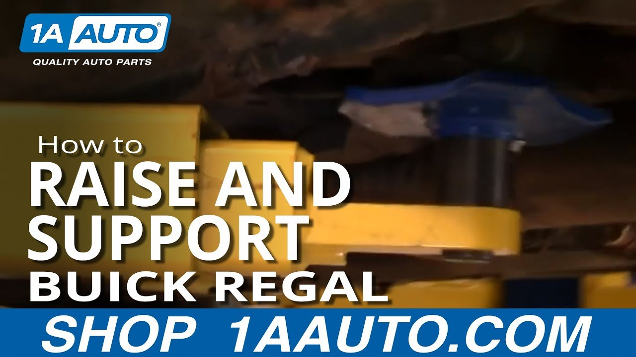 Town And Country Van 2017 >> Where How To Jack Up and Support with Jack Stands Buick Regal Pontiac Grand Prix 91-96 1AAuto ...