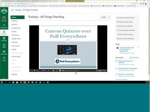 Canvas Quizzing Over Poll Everywhere (30-min. Webinar)