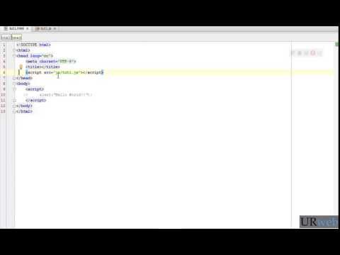 #1 Embed Javascript Code Into Html Files