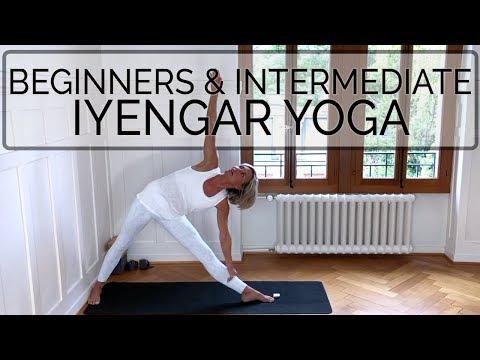 Iyengar Yoga Class. Beg. & Intmd. CdR. OYT #wallyoga #iyengaryoga