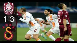 CFR Cluj 1 - 3 Galatasaray | Şampiyonlar Ligi Maç Özeti | 07/11/2012