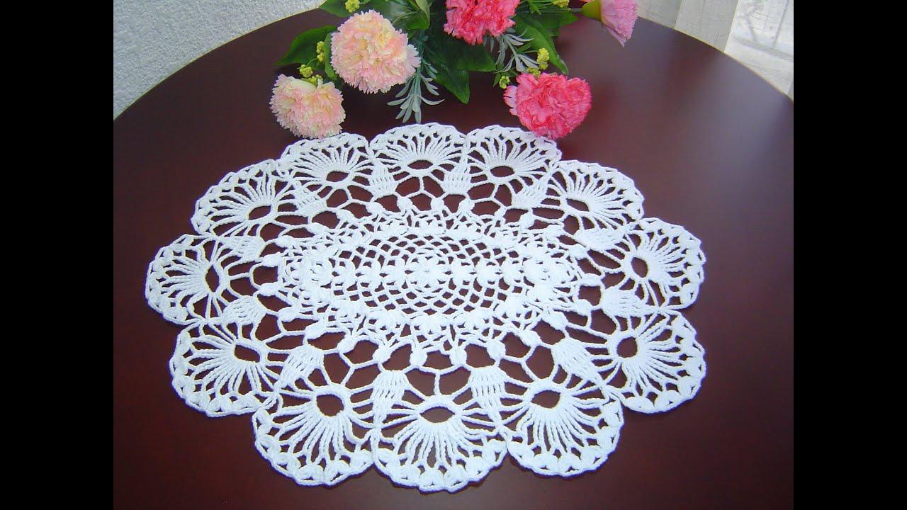 Como tejer carpeta o centro de mesa a crochet paso a paso - Centros de mesa de ganchillo ...