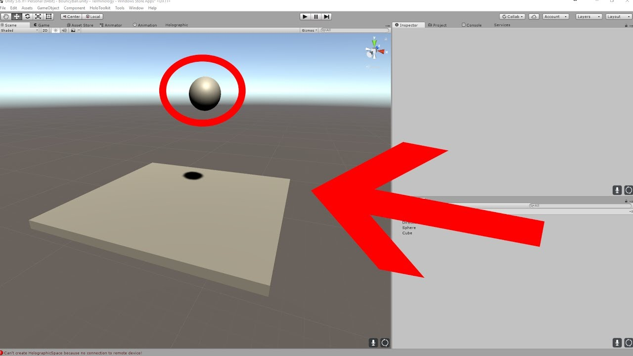 How to make a ball bounce in Unity?