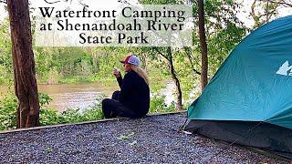 Waterfront Camping Shenandoah Riטer State Park Virginia