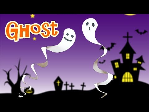 How to Make a Paper Halloween Ghost | Very Easy but Cool Halloween Decoration Craft for Kids
