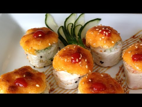 sushi baked dynamite spicy tuna and crab roll youtube