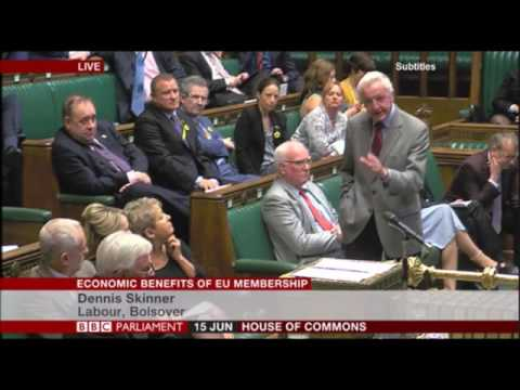 Dennis Skinner 15.06.2016 Speaking about Zero Hour Contracts.