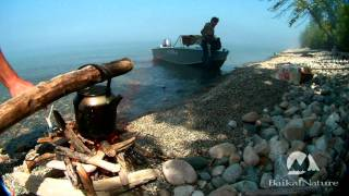 Lunch on the shore of Lake Baikal