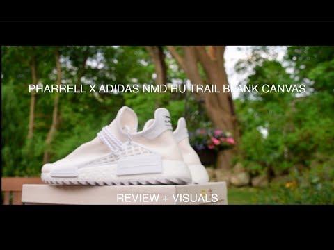 ADIDAS PHARRELL HU NMD TRAIL HOLI BLANK CANVAS REVIEW