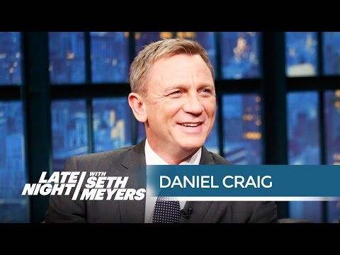 Seth Warns Daniel Craig That His Ladies Man Roles May Be Over  Late Night with Seth Meyers