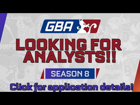 GBA Season 8: Analyst Application Video!