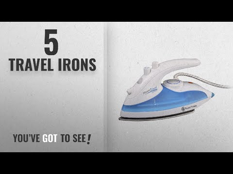 Top 10 Travel Irons [2018]: Russell Hobbs Steam Glide Travel Iron 22470, 760 W - White and Blue