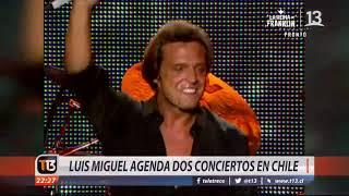 Luis Miguel agenda dos conciertos en Chile