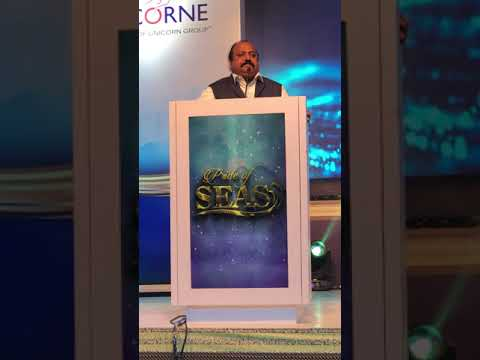 Xavier Britto, Chairman, Kerry Indev Addressing @ Pride of Seas a Mega Maritime Event at Chennai